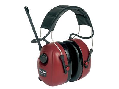 Peltor høreværn m/radio m/sort bøjl