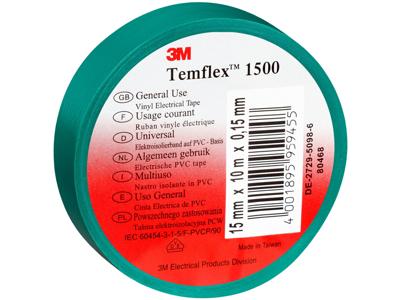 3M Temflex eltape 15mm×10m grøn