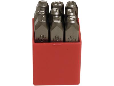 Peddinghaus Ståltal-sæt 7267 i plastbox 4 mm