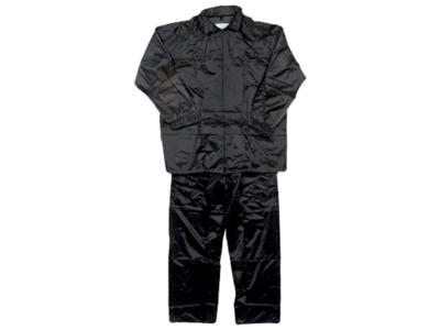 Regnsæt nylon PVC sort 40-54 M