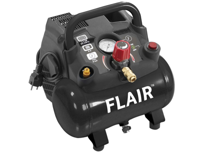 Flair Bærbar kompressor 1,5 hk 155 ltr.