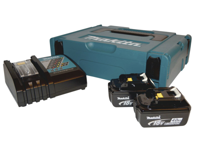 Makita Batteripakke 4Ah 2×BL1840+1×DC18RC