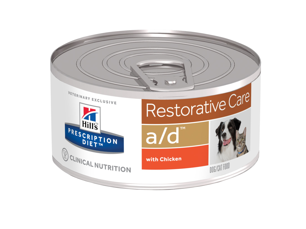 HILL'S PRESCRIPTION DIET CANINE/FELINE  A/D RESTORATIVE CARE WITH CHICKEN
