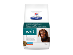 HILL'S PRESCRIPTION DIET CANINE W/D DIGESTIVE/WEIGHT/ DIABETES MANAGEMENT MINI WITH CHICKEN HUNDEFODER
