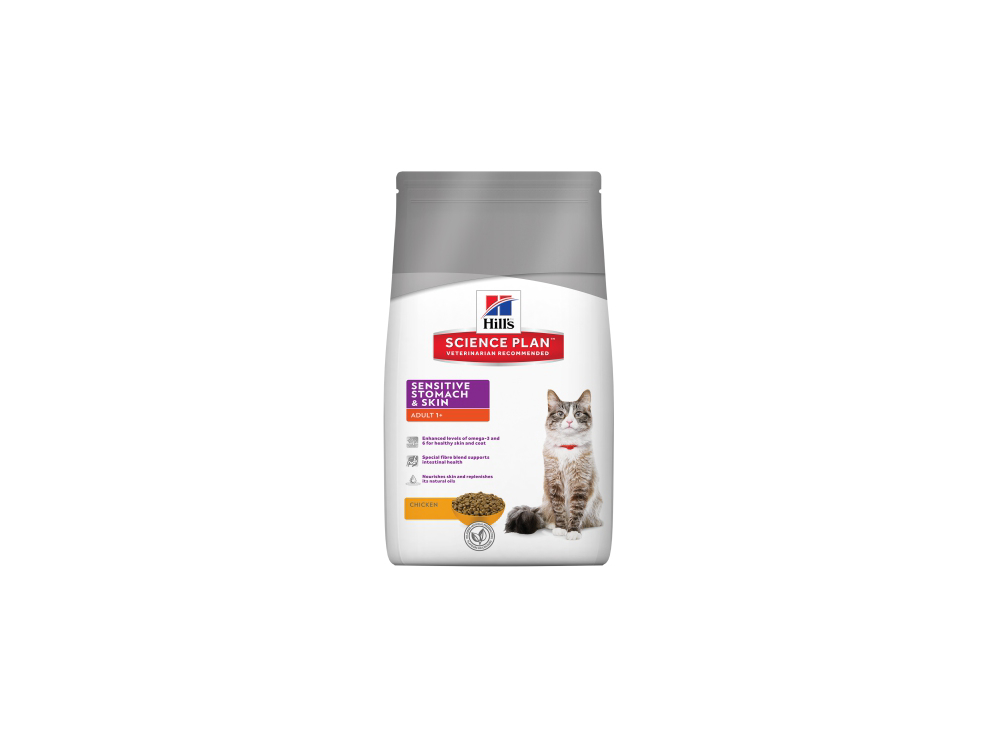 HILL'S SCIENCE PLAN FELINE ADULT SENSITIVE STOMACH & SKIN CHICKEN KATTEMAD