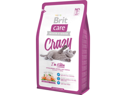 BRIT CARE CRAZY KITTEN KYLLING OG RIS KATTEMAD