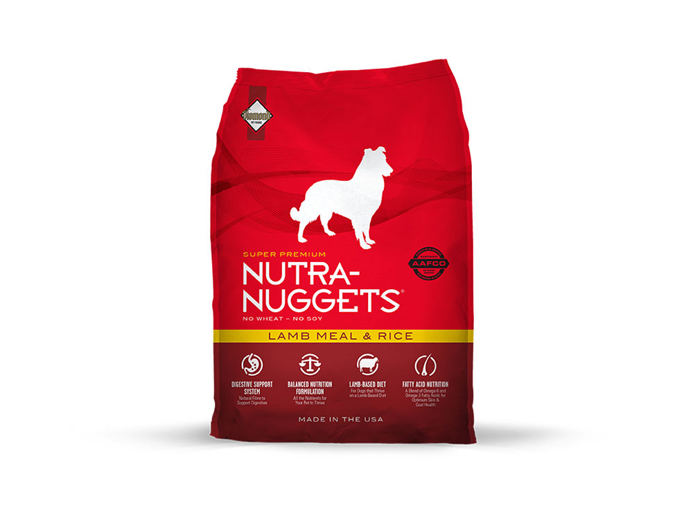 NUTRA-NUGGETS LAMB MEAL / RICE HUNDEMAD