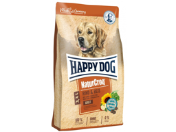 HAPPY DOG NATURCROQ OKSE OG RIS HUNDEMAD