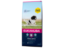 EUKANUBA ACTIVE ADULT MEDIUM HUNDEFODER BONUS