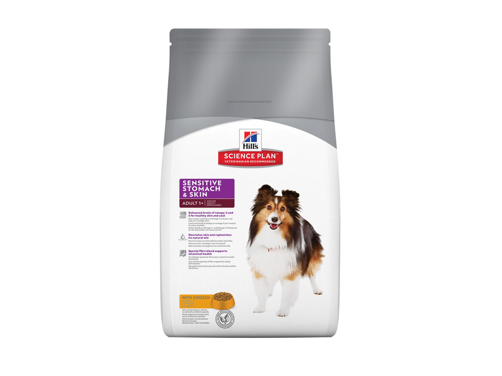 HILL'S SCIENCE PLAN CANINE ADULT SENSITIVE STOMACH AND SKIN KOIRANRUOKA