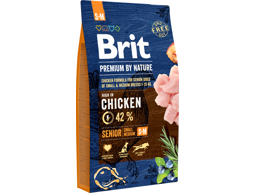 BRIT PREMIUM BY NATURE SENIOR S/M HUNDEFÔR