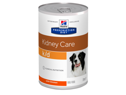 HILL'S PRESCRIPTION DIET CANINE K/D KIDNEY CARE WITH CHICKEN HUNDFODER