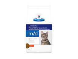 HILL'S PRESCRIPTION DIET FELINE M/D DIABETES/WEIGHT MANAGEMENT WITH CHICKEN KATTEMAD