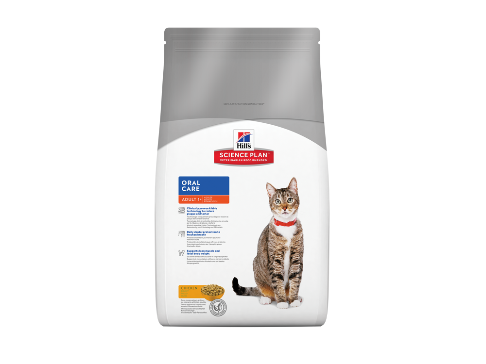 HILL'S SCIENCE PLAN FELINE ADULT ORAL CARE CHICKEN KATTEMAD