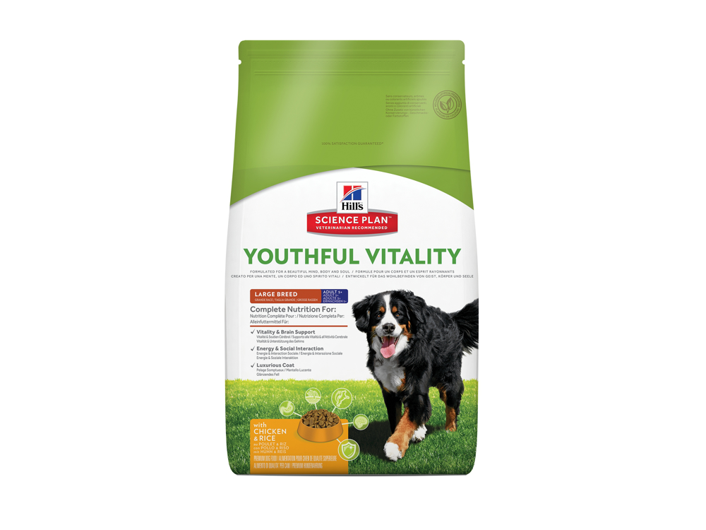HILL'S SCIENCE PLAN CANINE ADULT 5+ YOUTHFUL VITALITY LARGE BREED WITH CHICKEN & RICE HUNDEFODER