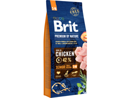 BRIT PREMIUM BY NATURE SENIOR S / M HUNDEFODER