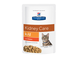 HILL'S PRESCRIPTION DIET FELINE K/D KIDNEY CARE WITH CHICKEN KATTEMAD