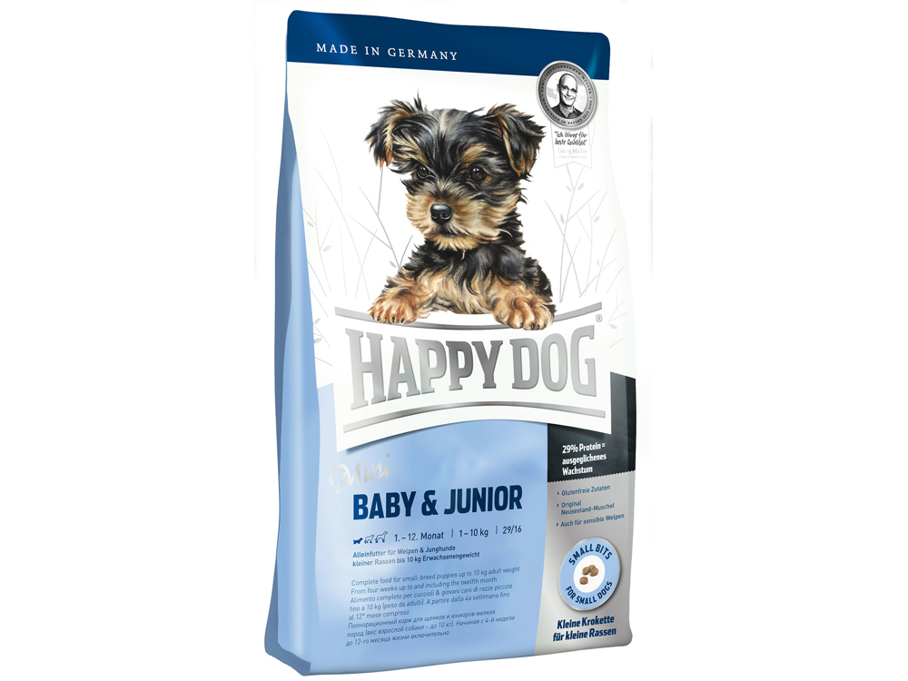 HAPPY DOG MINI BABY OG JUNIOR HUNDEFODER