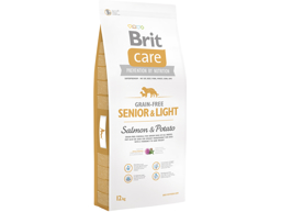 BRIT CARE GRAIN-FREE SENIOR & LIGHT LAKS OG KARTOFFEL HUNDEFODER