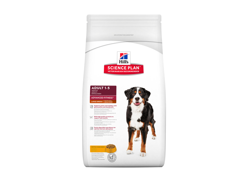 HILLS SCIENCE PLAN CANINE ADULT ADVANCED FITNESS LARGE BREED WITH CHICKEN HUNDEFODER