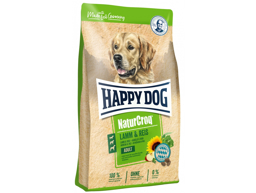 HAPPY DOG NATURCROQ LAM  OG RIS HUNDEMAD