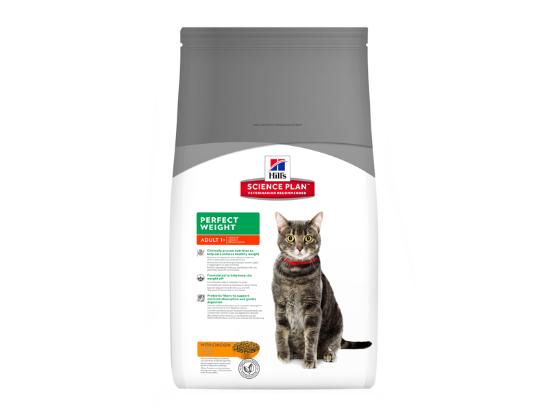 HILL'S SCIENCE PLAN FELINE ADULT PERFECT WEIGHT WITH CHICKEN KATTEMAD