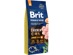 BRIT PREMIUM BY NATURE JUNIOR MEDIUM HUNDEFÔR