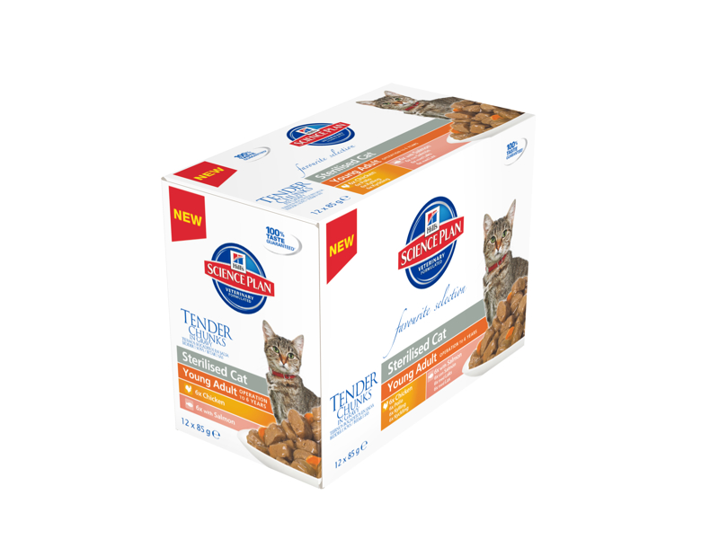 HILLS SCIENCE PLAN FELINE STERILISED CAT YOUNG ADULT CHICKEN KATTEMAD