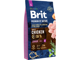 BRIT PREMIUM BY NATURE JUNIOR SMALL HUNDEFÔR
