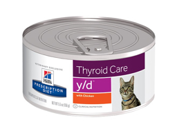 HILLS PRESCRIPTION DIET FELINE Y/D THYROID CARE WITH CHICKEN KATTEMAD