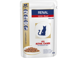 ROYAL CANIN VETERINARY DIET FELINE RENAL WITH BEEF KATTEMAD