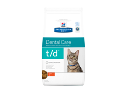 HILL'S PRESCRIPTION DIET FELINE T/D DENTAL CARE WITH CHICKEN KATTEMAD