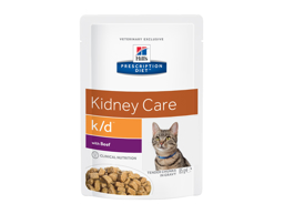 HILL'S PRESCRIPTION DIET K/D KIDNEY CARE WITH BEEF KATTEMAD
