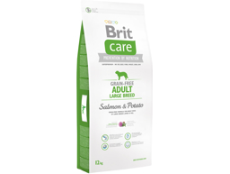 BRIT CARE GRAIN-FREE ADULT LARGE LAKS OG KARTOFFEL HUNDEFODER