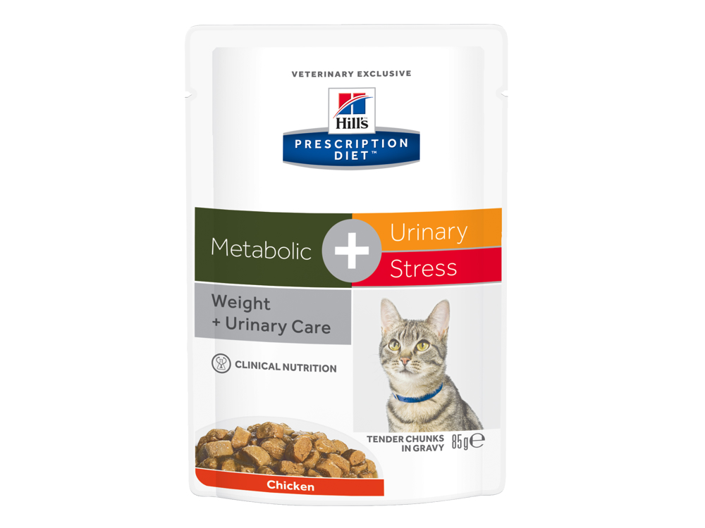 HILL'S PRESCRIPTION DIET METABOLIC URINARY STRESS WITH CHICKEN KATTEMAD
