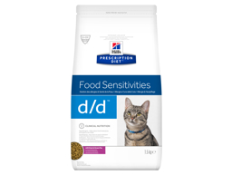 HILL'S PRESCRIPTION DIET FELINE D/D FOOD SENSITIVES WITH DUCK & GREEN PEA KATTEMAD