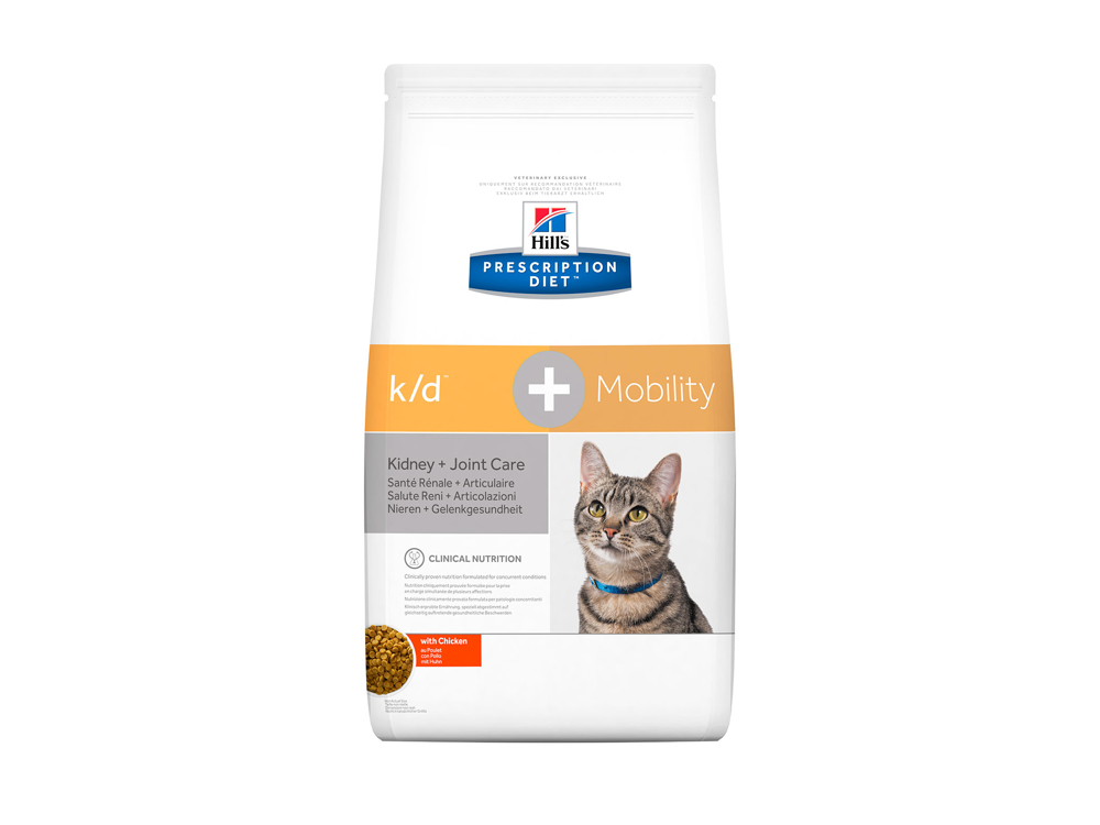 HILL'S PRESCRIPTION DIET FELINE K/D + MOBILITY / KIDNEY + JOINT CARE WITH CHICKEN KATTEMAD
