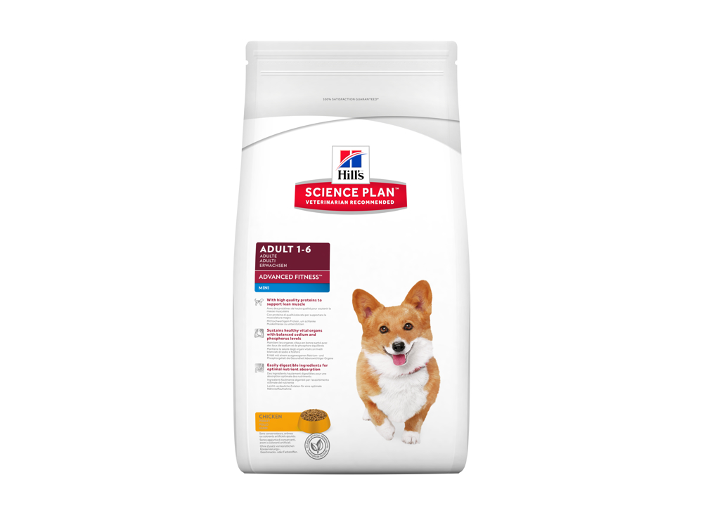 HILL'S SCIENCE PLAN CANINE ADULT ADVANCED FITNESS MINI WITH CHICKEN HUNDEFODER