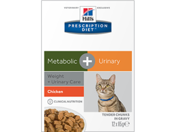 HILL'S PRESCRIPTION DIET FELINE METABOLIC + URINARY WEIGHT + URINARY CARE WITH CHICKEN KATTEMAD