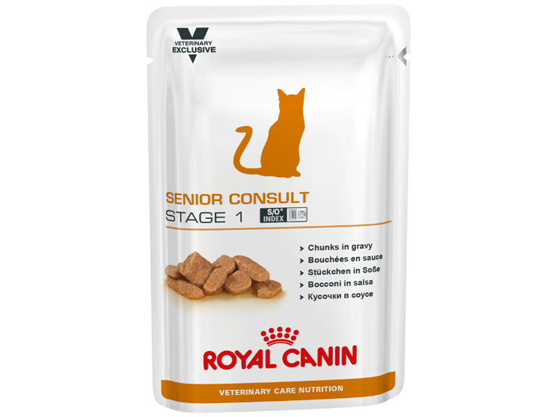 ROYAL CANIN VETERINARY CARE NUTRITION FELINE SENIOR CONSULT STAGE 1 KATTEMAD
