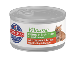 HILL'S SCIENCE PLAN KITTEN MOUSSE CHICKEN & TURKEY KATTEMAD
