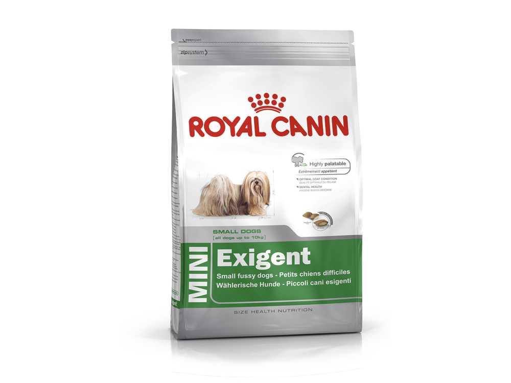 royal canin mini exigent hundefoder 364 95 kr 100 prismatch og fri fragt. Black Bedroom Furniture Sets. Home Design Ideas