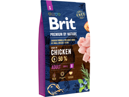 BRIT PREMIUM BY NATURE ADULT SMALL HUNDEFODER