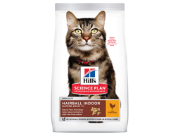 HILL'S SCIENCE PLAN MATURE ADULT 7+ HAIRBALL INDOOR CHICKEN KATTEMAD