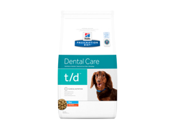 HILL'S PRESCRIPTION DIET CANINE T/D DENTAL CARE MINI WITH CHICKEN HUNDEFODER