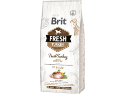 BRIT FRESH ADULT FIT AND SLIM FRESH TURKEY & PEA HUNDEFODER