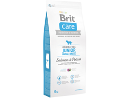 BRIT CARE GRAIN-FREE JUNIOR LARGE LAKS OG KARTOFFEL HUNDEFODER
