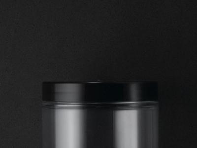 Sort låg til 150/250 ml plastkrukke