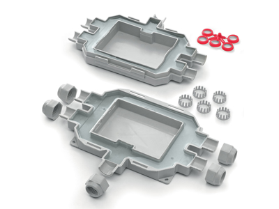 Raytech samledåse m/indb. gel 210x155x45
