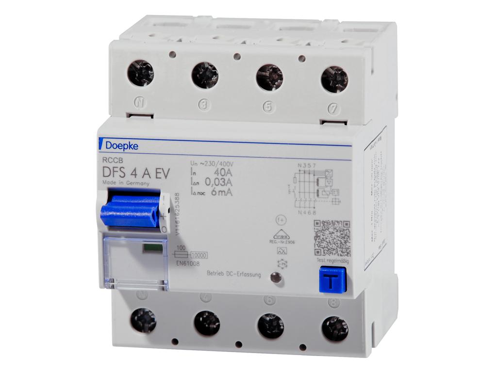 Doepke DFS 4 RCD 040-4/0,03A-EV 4-polet, 4M L - til ladestandere